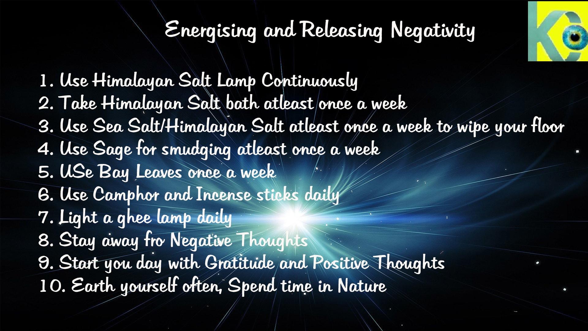 Energising and Releasing Negativity