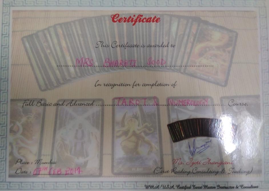 Tarot & Numerology Certifications
